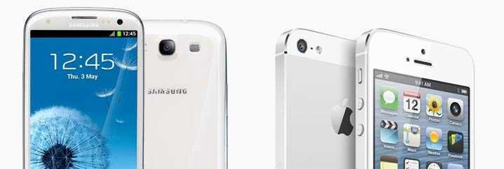 Samung Galaxy SIII and Apple iPhone 5