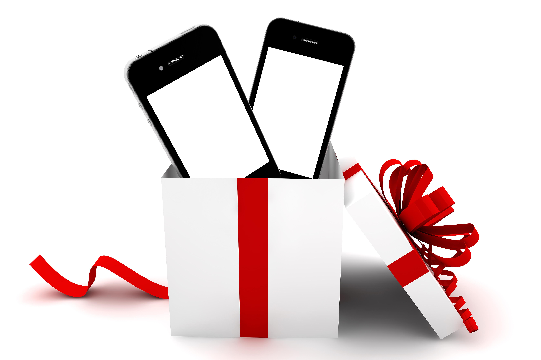 Открытки с покупкой телефона